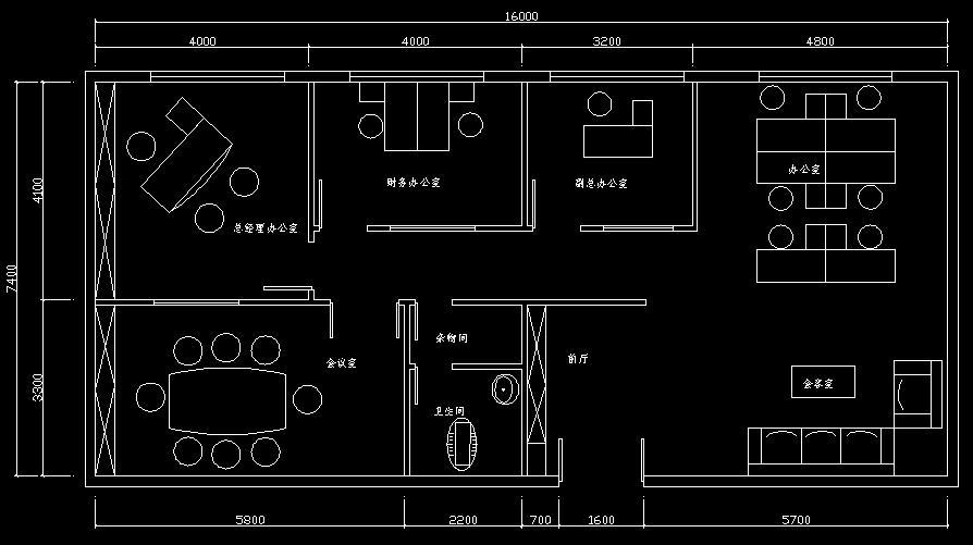 办公室屏风电路布局图