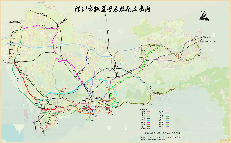 深圳市轨道交通规划示意图[转]