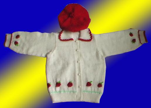 图]手工编织婴幼儿毛衣,披风,鞋帽子,袜子.【08年新