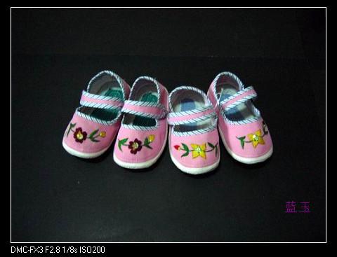 完全手工制作儿童布鞋