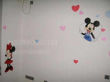 手绘墙画~漂亮的儿童房