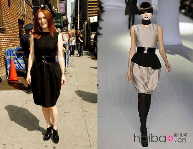 女明星和模特穿同样衣服的对比(转)