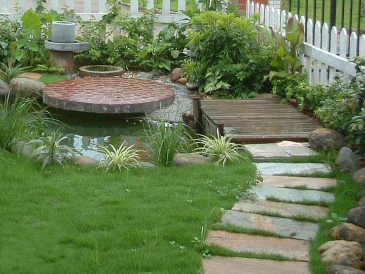 ps私家园林水池平面素材