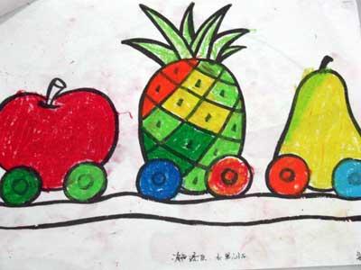 幼儿园水果亲子画画