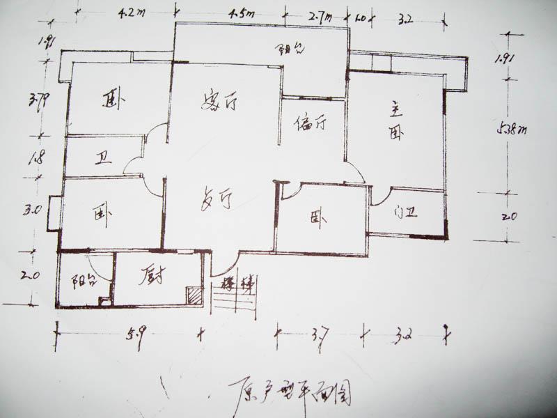 100平房间结构设计图