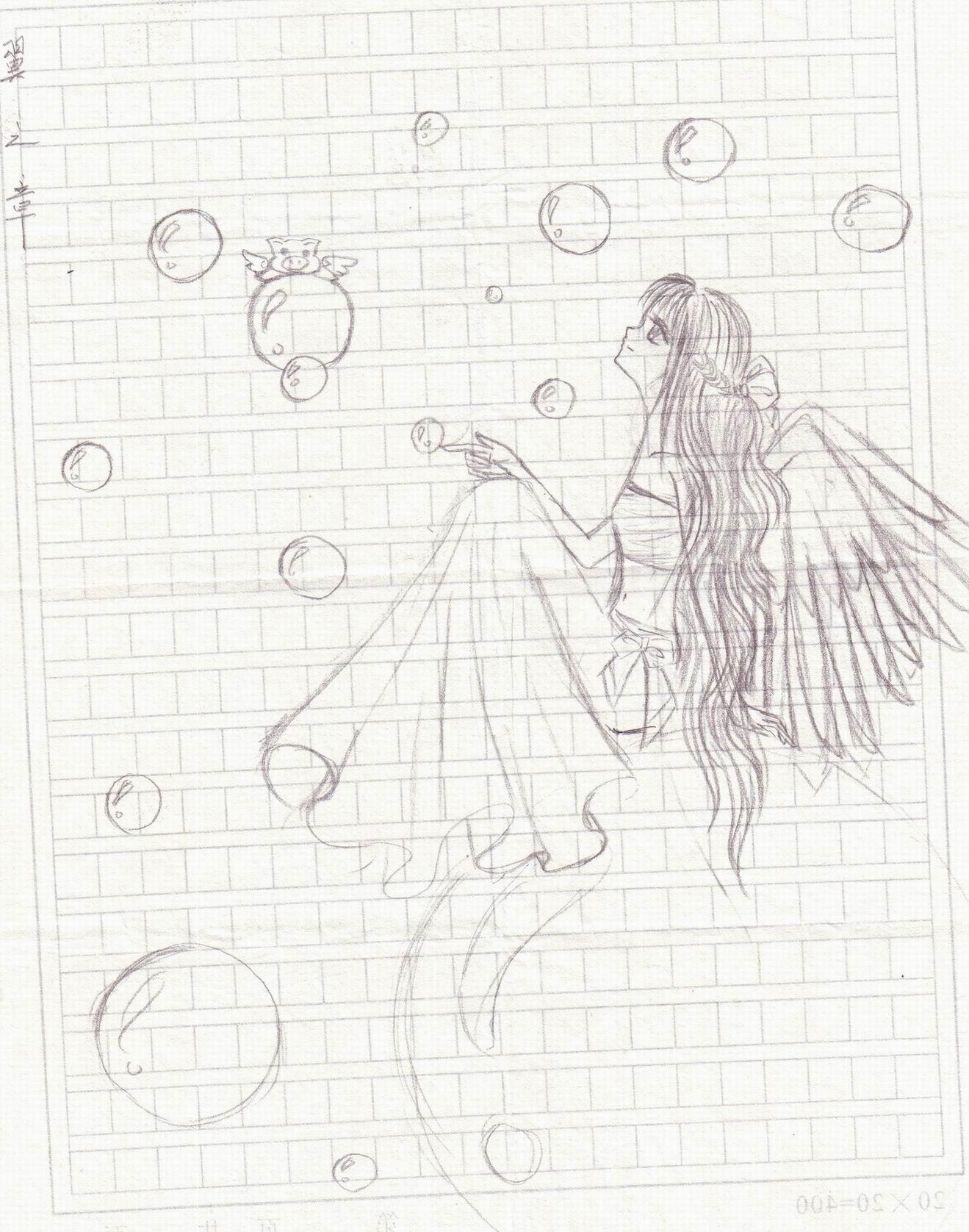 可爱 铅笔画