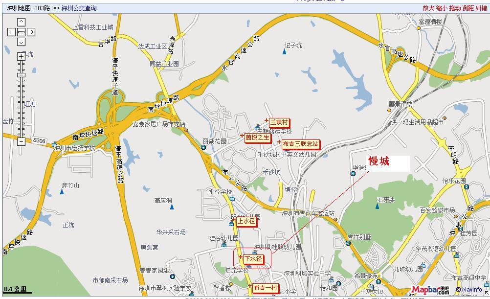 从我查的公交线路地图来看