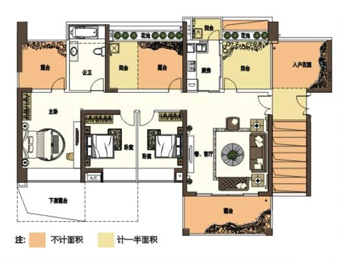 复式楼户型图设计图