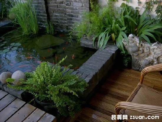 小鱼池设计图 花园