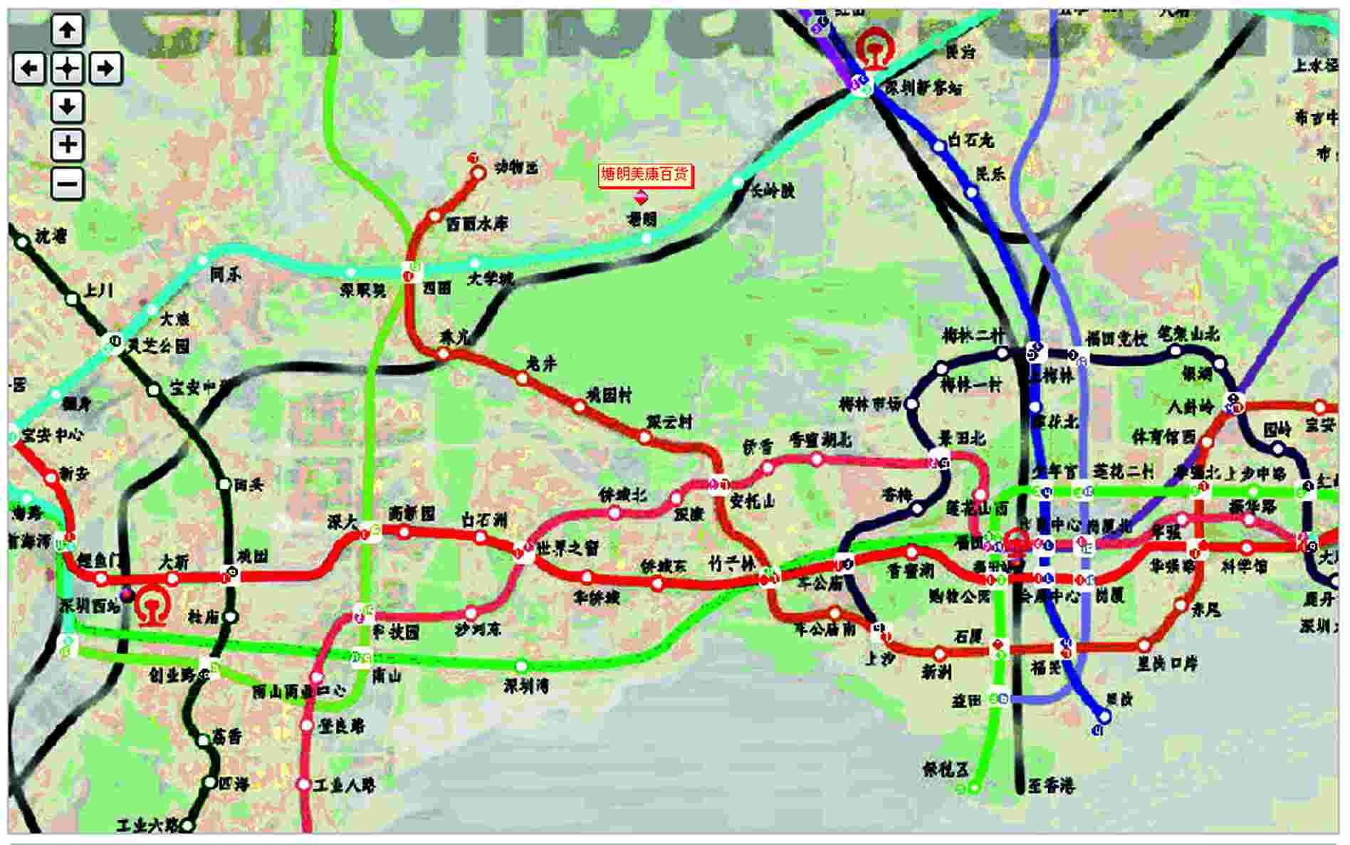 龙华轻轨规划图_地铁6号线规划图不去人口密集区却 ...