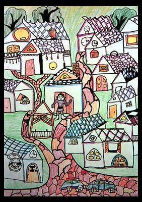 童心无限 孩子们绘画作品展示的小 学龄教育图片