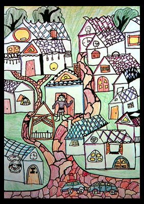 〔图〕童心无限-孩子们绘画作品展示的小屋(成长贴) - 深圳房地产信息