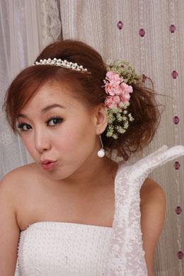 韩版新娘化妆造型过程