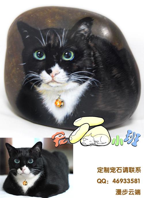 > 定制手绘石头猫——宠石小班