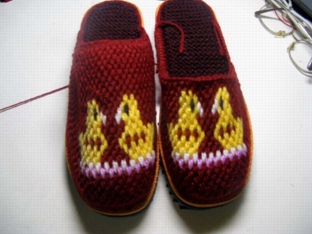 拖鞋钩针心形的钩法图解