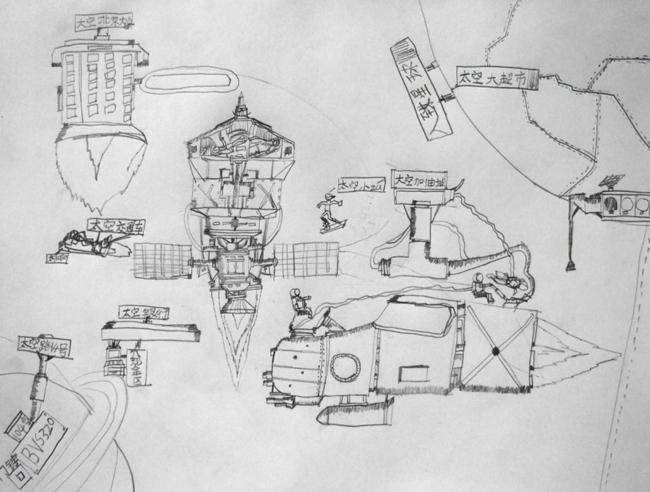 宫崎骏动漫手绘铅笔