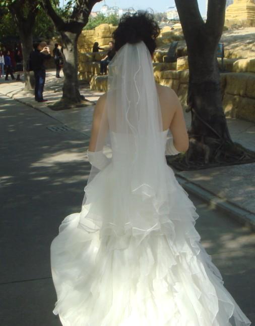 新娘婚纱背影手绘