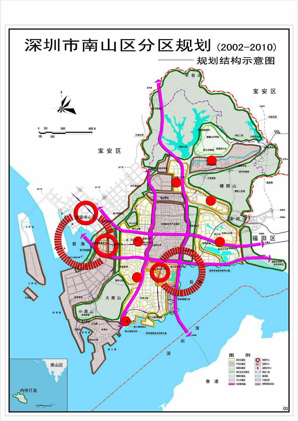 南山分规-空间结构规划