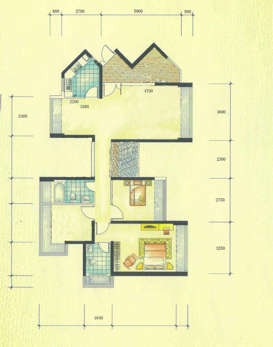 坐西北朝东南房子设计图