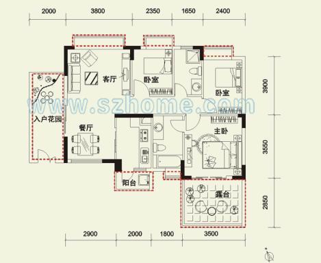 房间铺木地板 6,大厅贴瓷砖