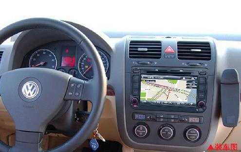 大众速腾/途安/开迪/迈腾专用车载dvd gps导航