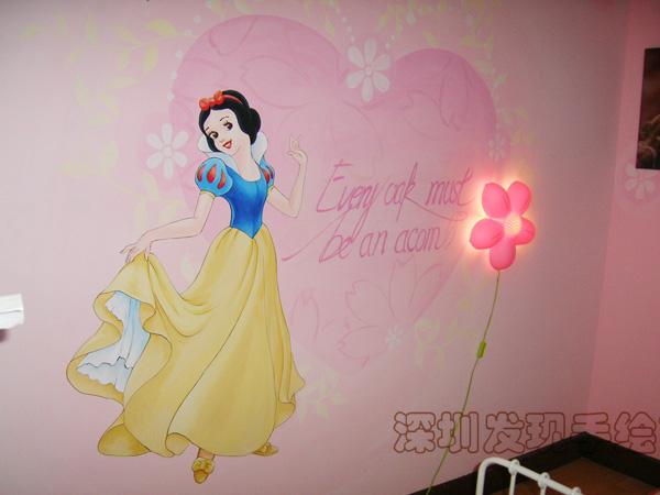 > 儿童房手绘墙画 献给六一小朋友的礼物