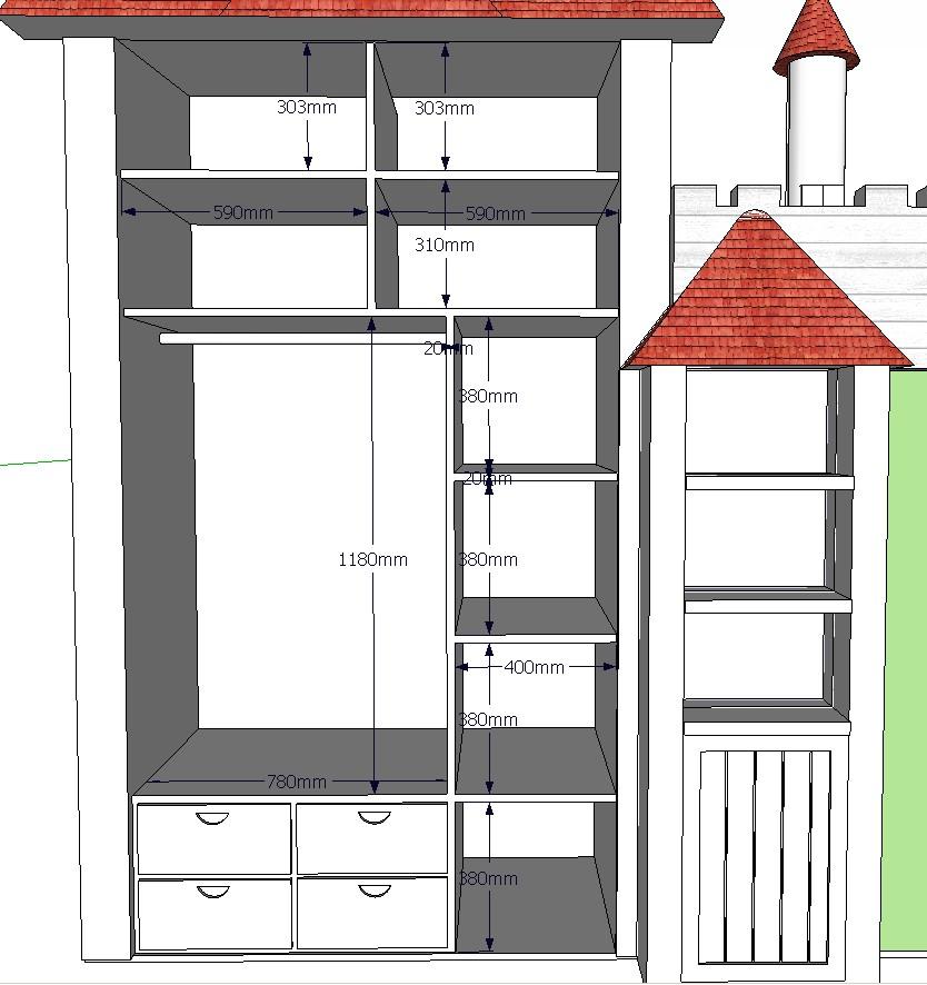 儿童房衣柜结构图