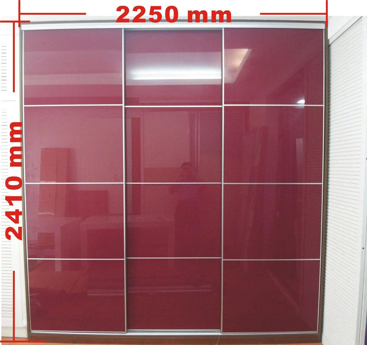 烤漆玻璃推拉门衣柜外部图