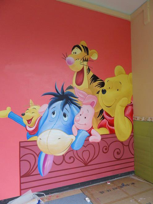 儿童房等卡通手绘墙