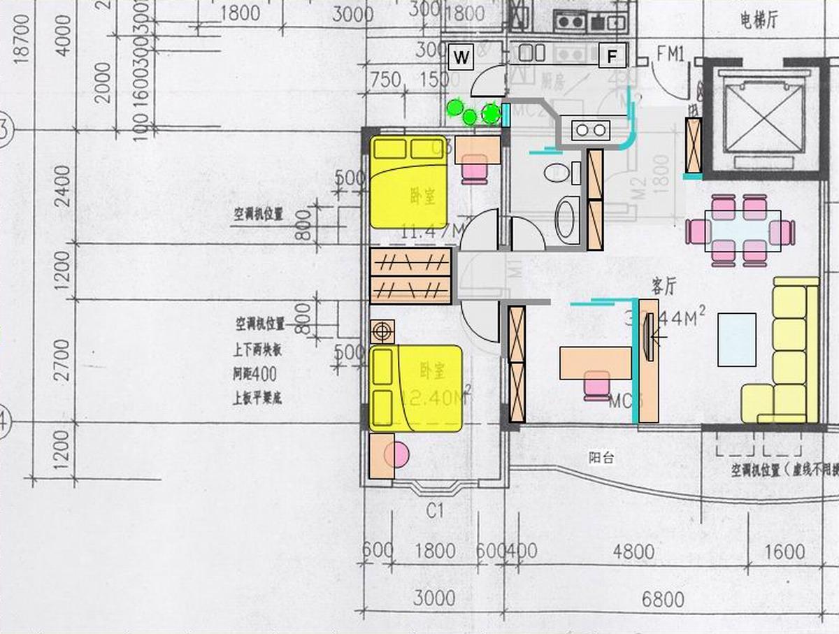 二房改三房设计图; > 两房的户型想改成两房加一个书房,该如何改,请