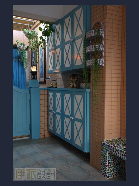 田园风格三室一厅二卫装修案例效果图 160平米设计