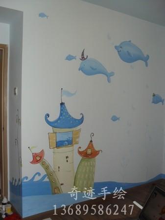 幼儿墙面布置画热气球图