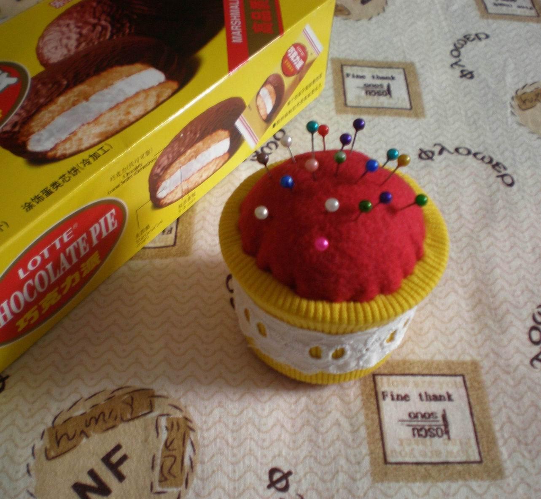 肯德基土豆泥盒子做成的蛋糕针插(小布头原创)