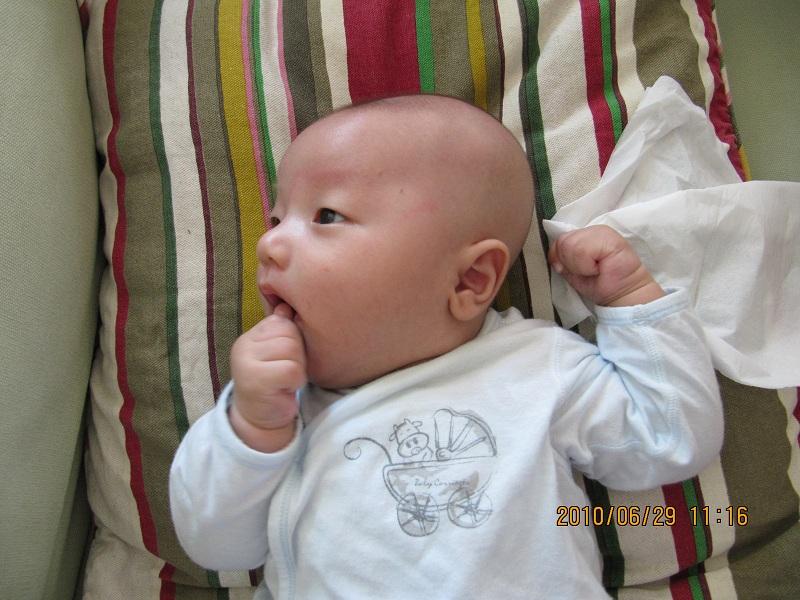 > 新手妈妈请教:2个月的宝宝夜里饿了的话会不会自己醒来哭?