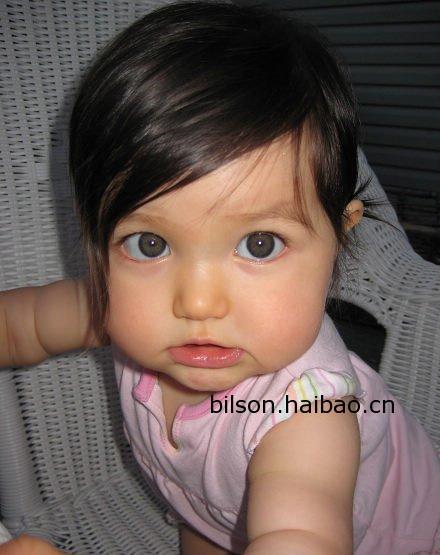 超可爱的混血宝宝!