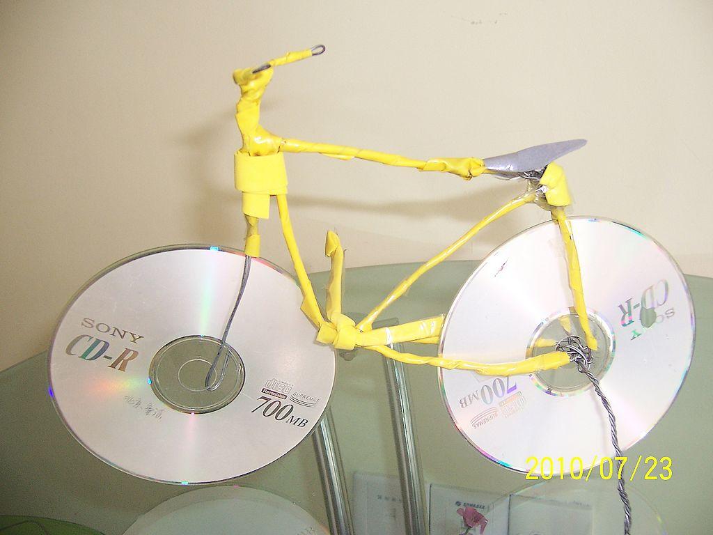 光盘自行车手工制作大全图解