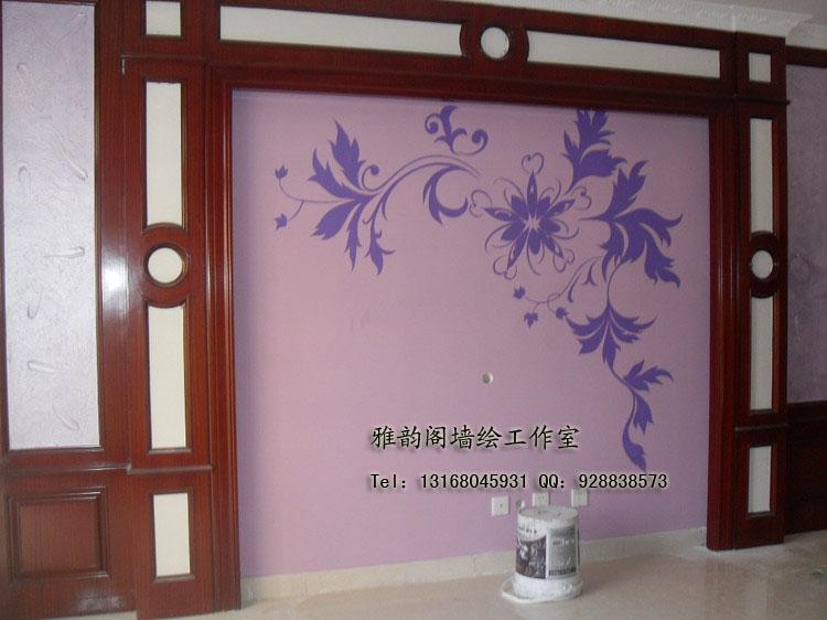 深圳手绘墙,墙体彩绘,手绘墙画,壁画浮雕,雅韵阁墙绘装饰设计—艺术墙