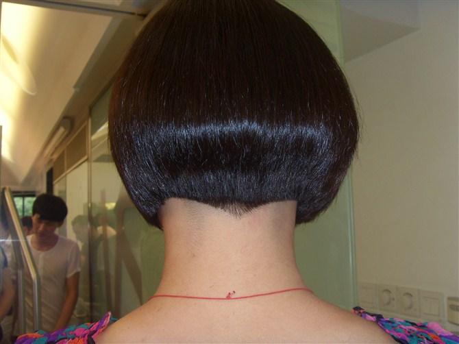 沙宣中发发型图片图片