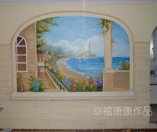 > 订手绘墙画 送同款图案的手绘鞋