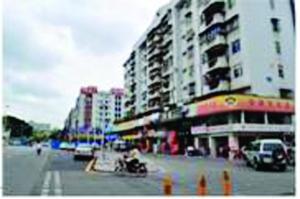 建安一路改造效果图  建安一路沿街建筑现状图