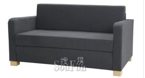 深灰色双人沙发床转让