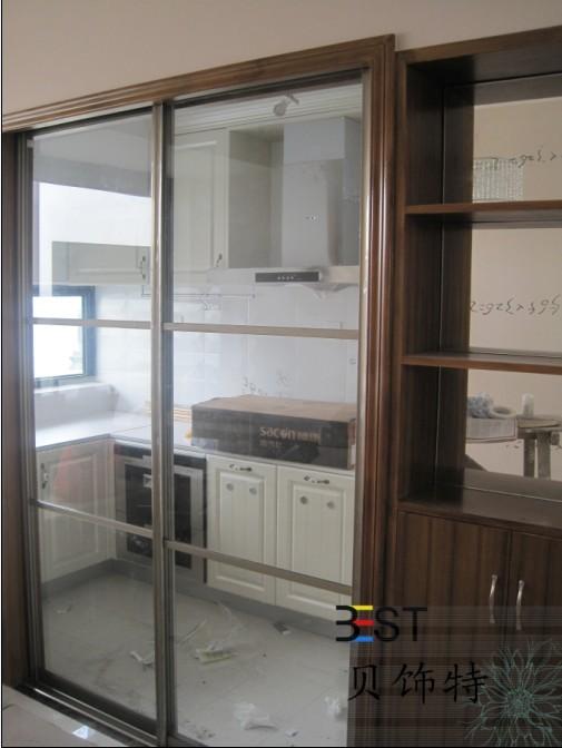 餐边柜装修效果图-14; 贝饰特家居 环保衣柜推拉门,隔间推拉门,颜色