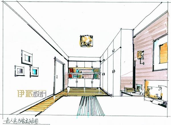四口之家手绘图