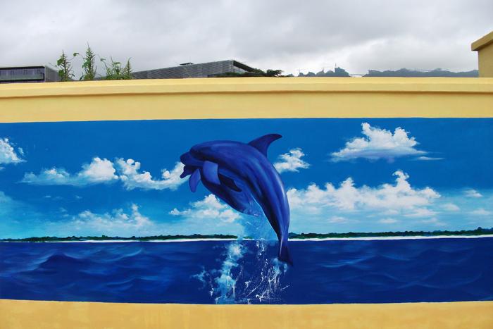 大梅沙海洋公园手绘墙