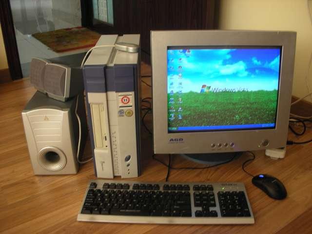 闲置长城原装电脑主机+17寸纯平显示器+金河田音箱