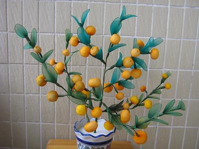 吉祥如意/桔子树 内含36个桔子