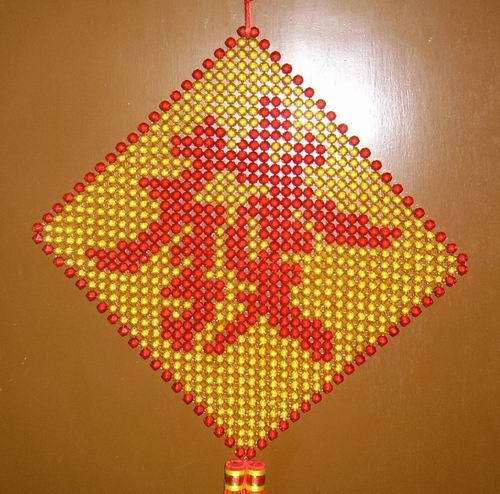 串珠制作台灯图解