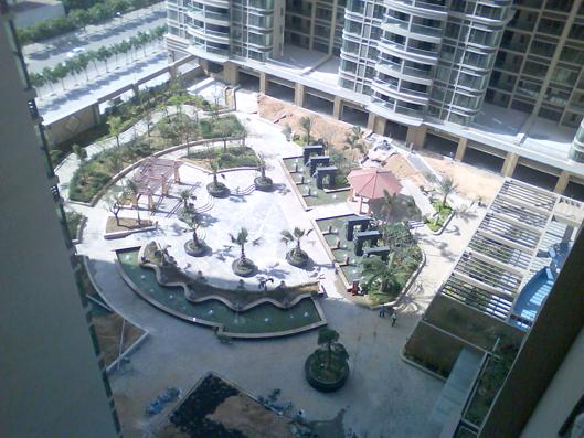高空俯视金海华府的花园的园林,还不错 深圳房地产信息网论坛 -高空
