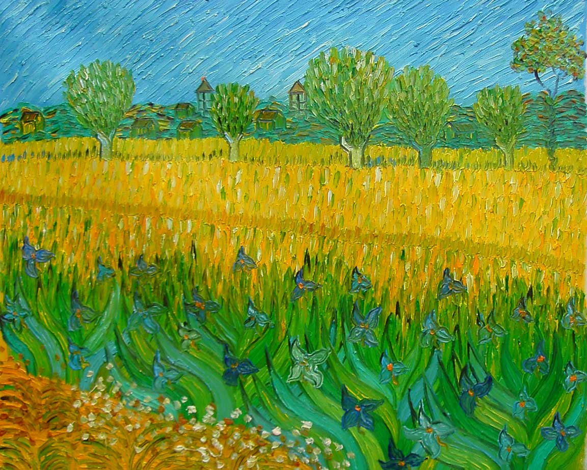 张艾莉手绘油画 装饰画 无框画 抽象 田园 梵高 风景 油画; 油画