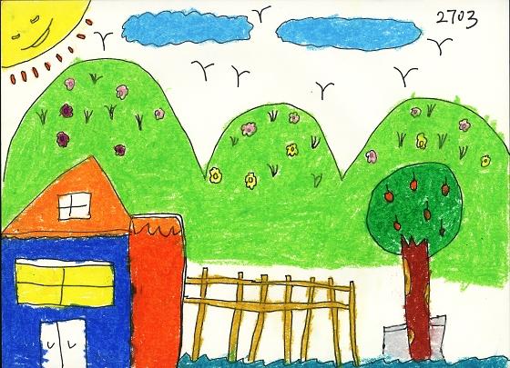 美丽家园我的梦绘画